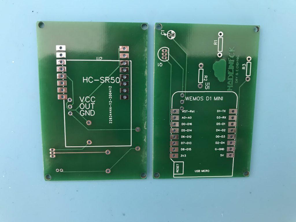 PCB du détecteur de mouvement
