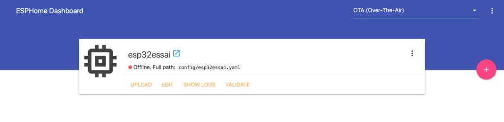 Interface utilisateur web ESPHome